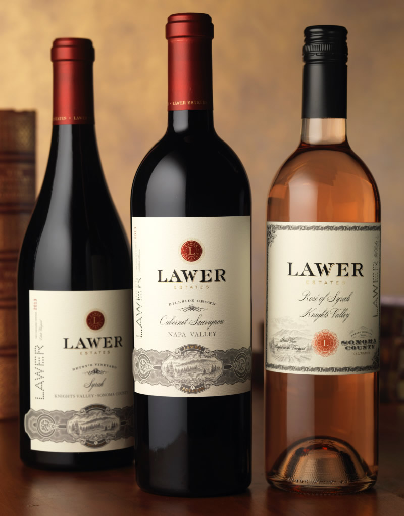 Lawer Estates Wine Packaging Design & Logo