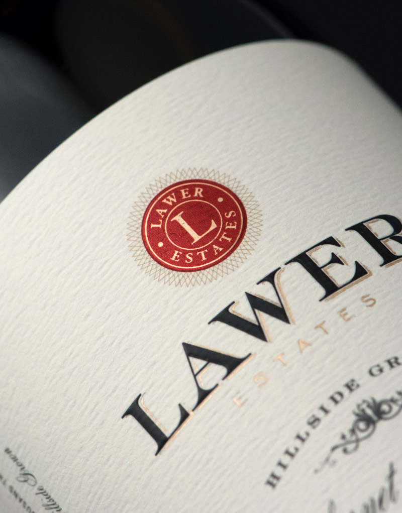 Lawer Wine Packaging Design & Logo Label Detail