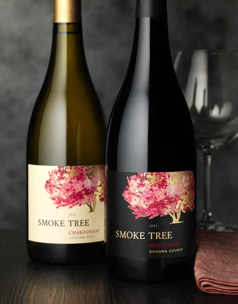 Smoke Tree Wine Packaging Design & Logo