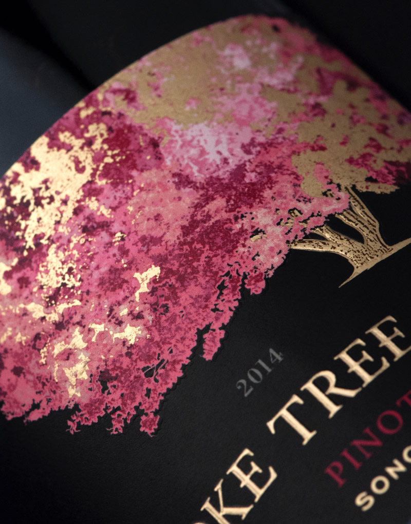 Smoke Tree Wine Packaging Design & Logo Label Detail