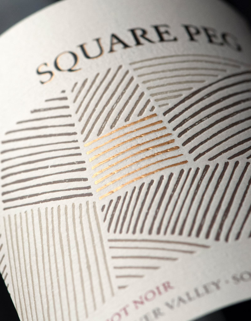 Square Peg Wine Packaging Design & Logo Label Detail