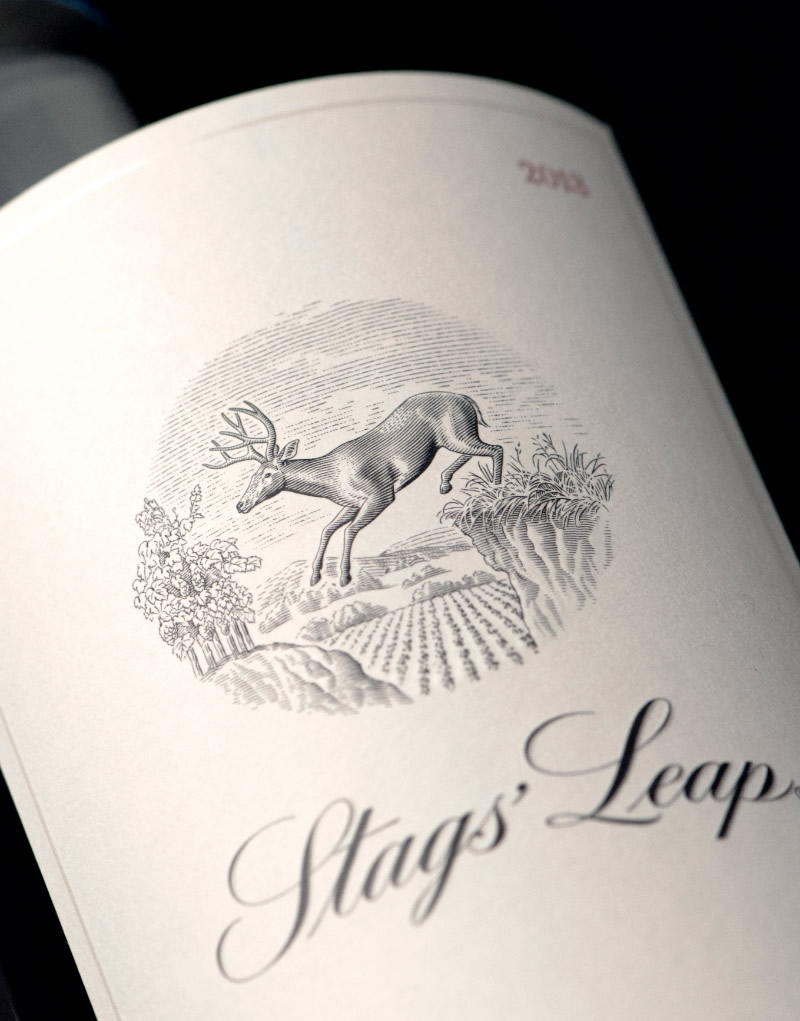 Stags' Leap Winery Packaging Design & Logo Label Detail