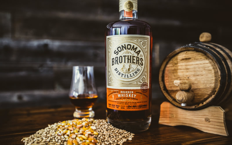 Sonoma Brothers Distilling Spirits Packaging Design & Logo Whiskey