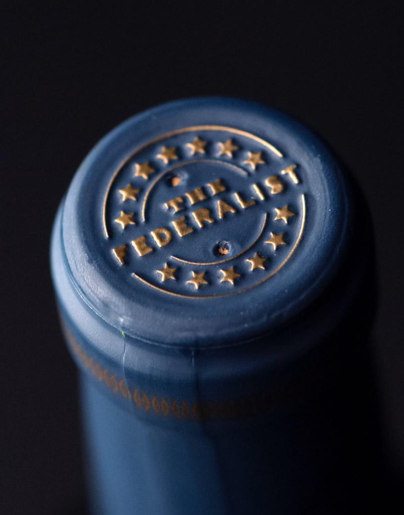 The Federalist Wine Packaging Design & Logo Capsule