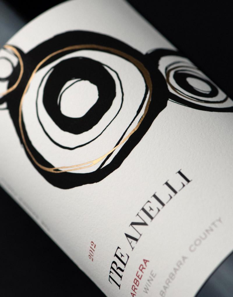 Tre Anelli Wine Packaging Design & Logo Label Detail