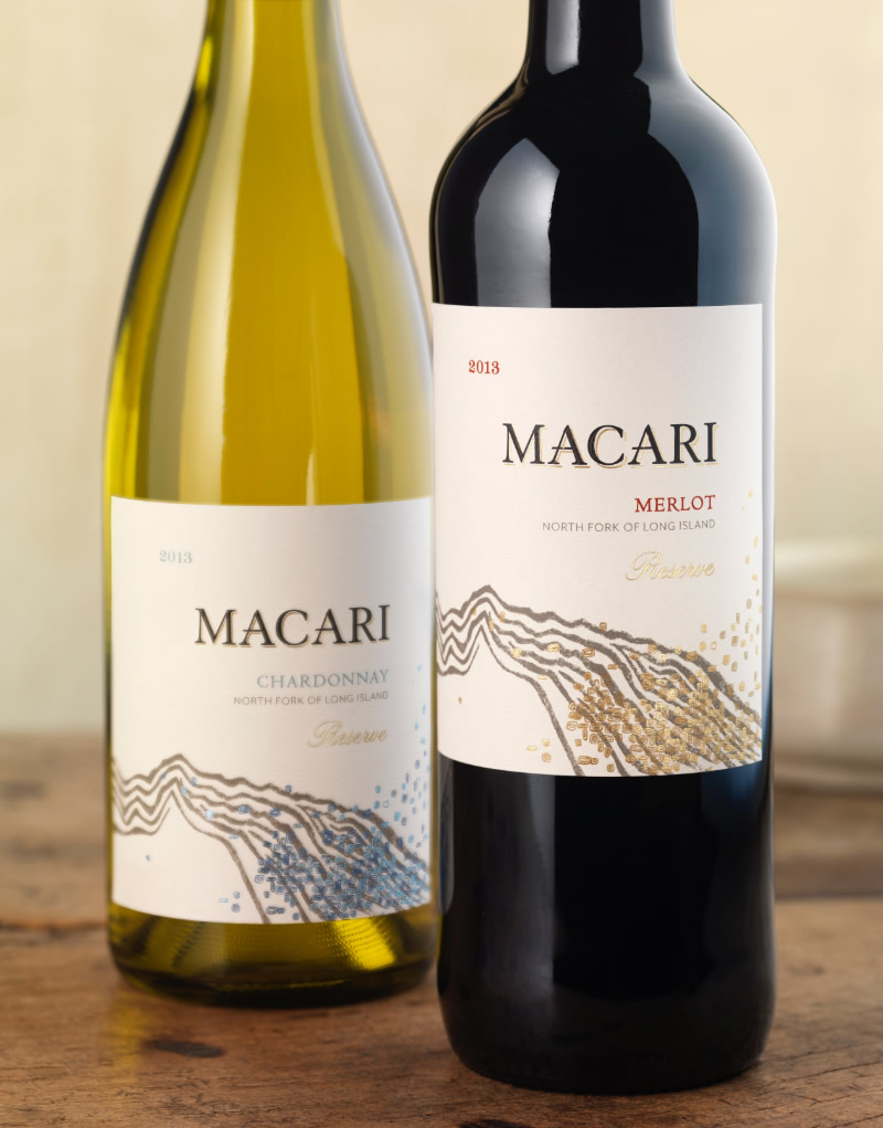 Macari Vineyards Wine Packaging Design & Logo