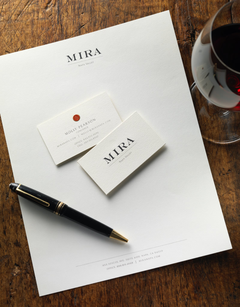 Mira Winery Stationery Design
