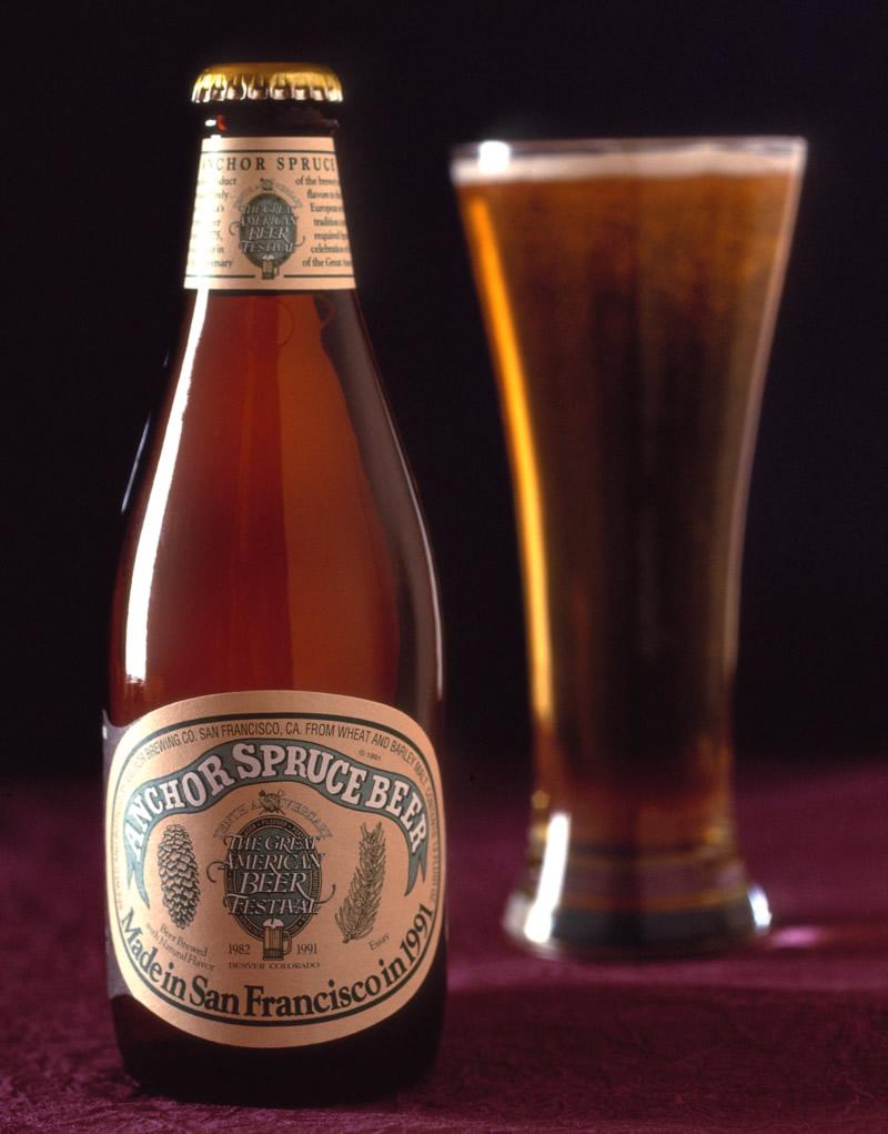 Anchor Spruce Beer Packaging Design & Logo