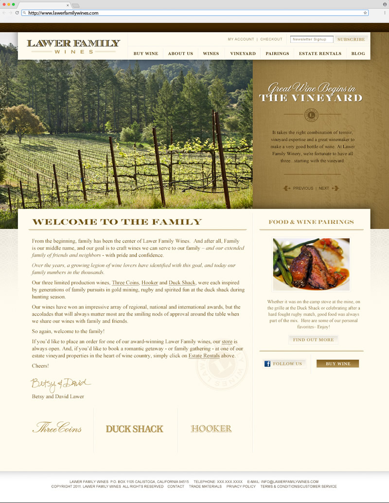 Lawer Estates Home Page Website Design
