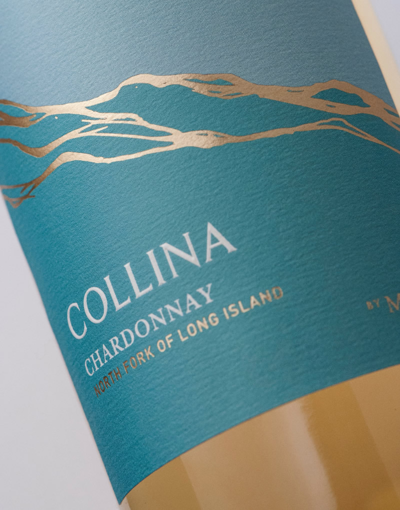Collina Wine Packaging Design & Logo Label Detail