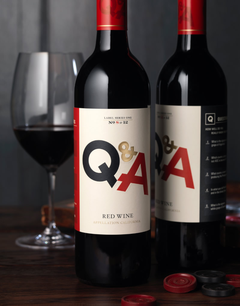 Q & A Wine Packaging Design & Logo