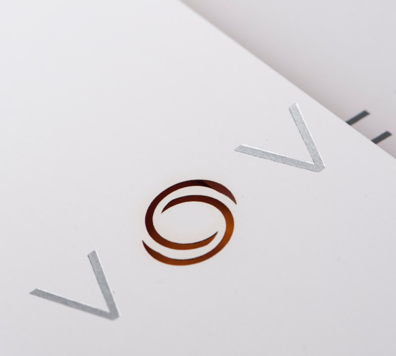 Voveti Brochure Design Logo Detail
