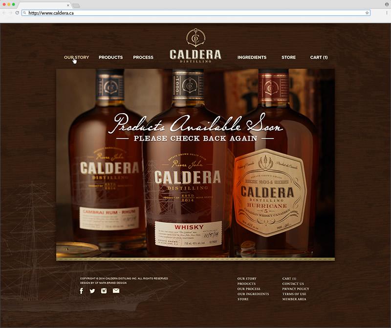 Caldera Distilling Homepage Website Design