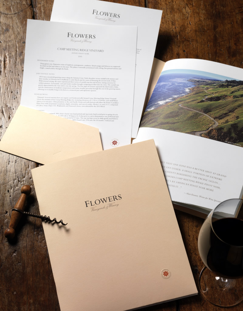 Flowers Vineyard & Winery Brochure Design