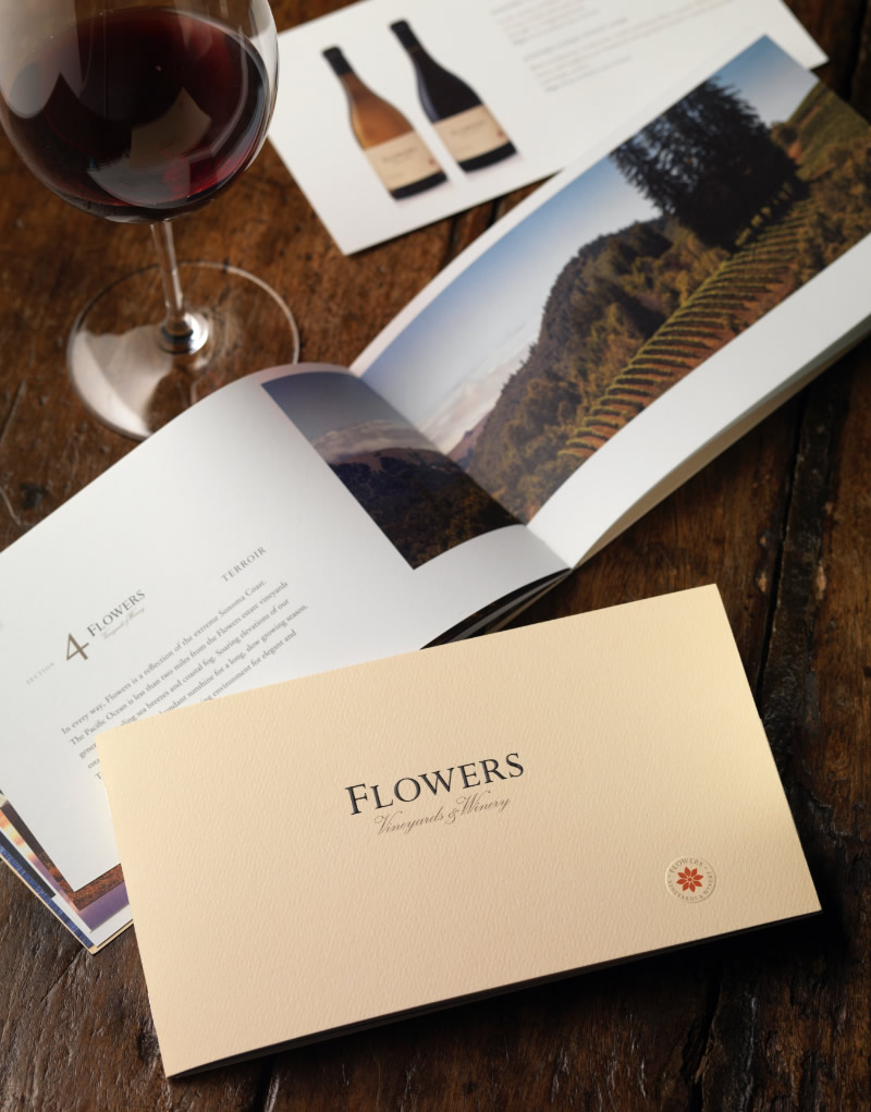 Flowers Vineyards & Winery Mailer Design