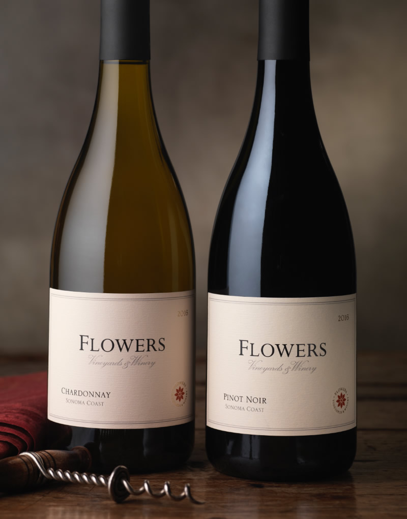 Flowers Vineyard & Winery Sonoma Coast Wine Packaging Design & Logo