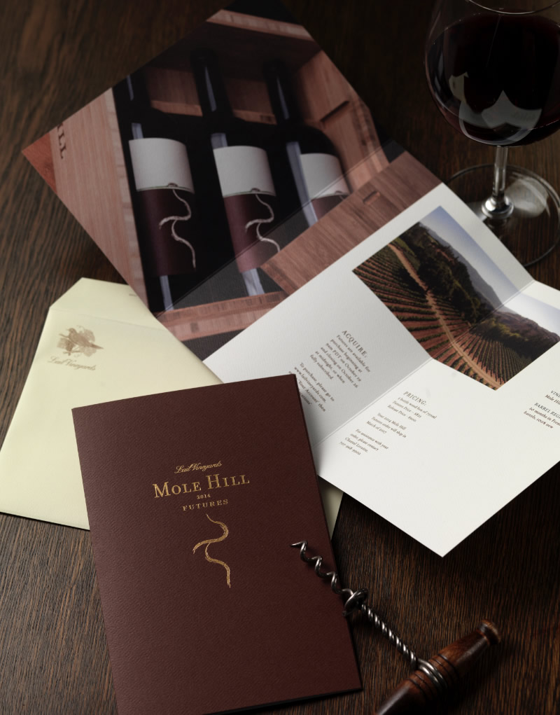 Lail Vineyards Mole Hill Mailer Design