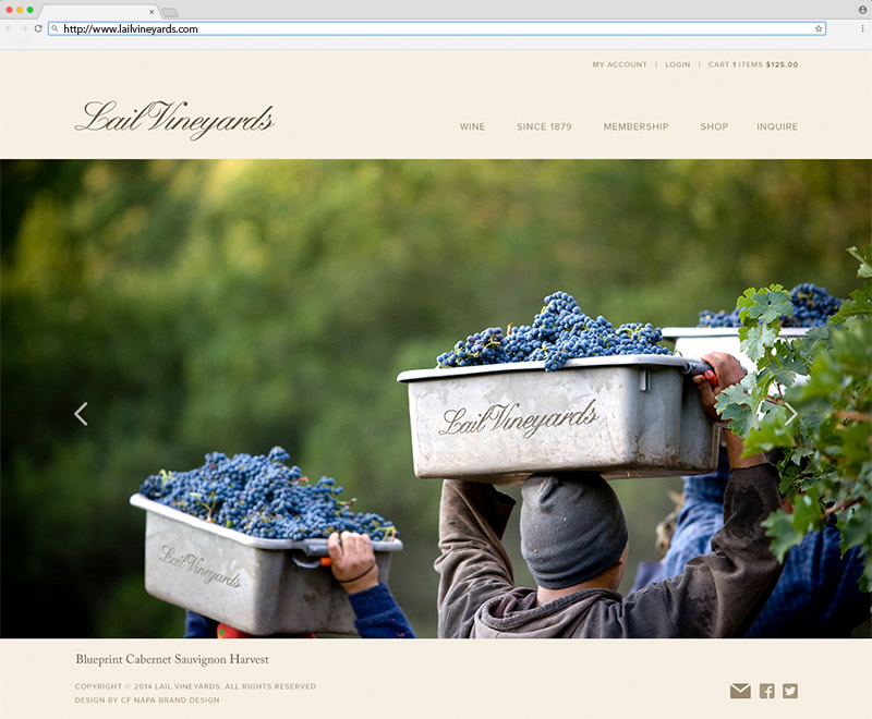 Lail Vineyards Homepage Website Design
