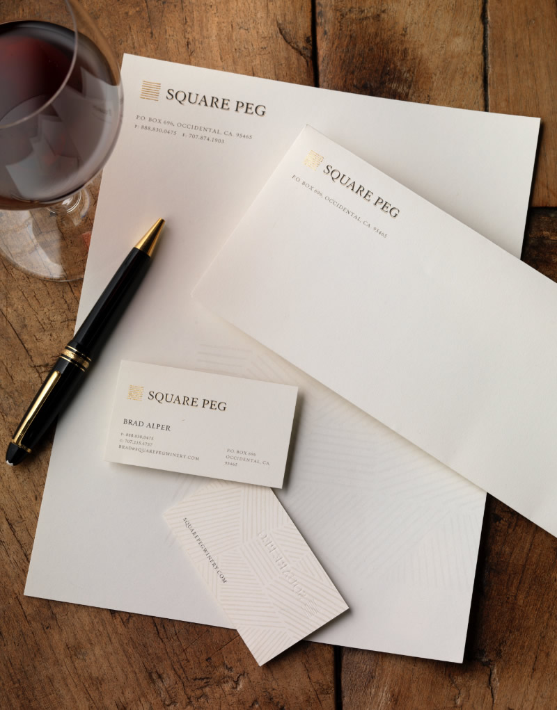 Square Peg Stationery Design