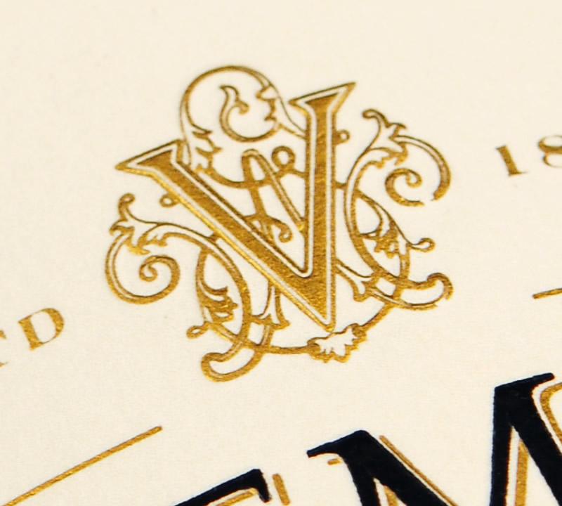 Biltmore Estate Wine Packaging Design & Logo Label Detail
