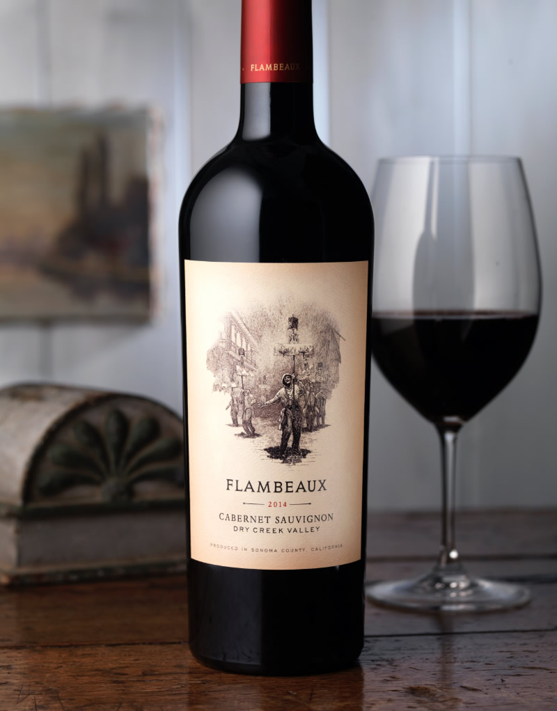 Flambeaux Wine Packaging Design & Logo