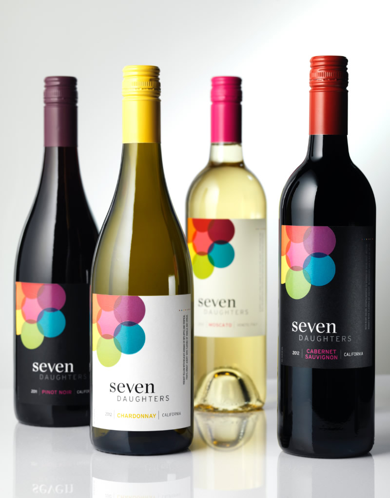 Seven Daughters Wine Packaging Design & Logo