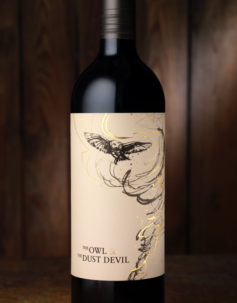 The Owl & the Dust Devil Wine Packaging Design & Logo