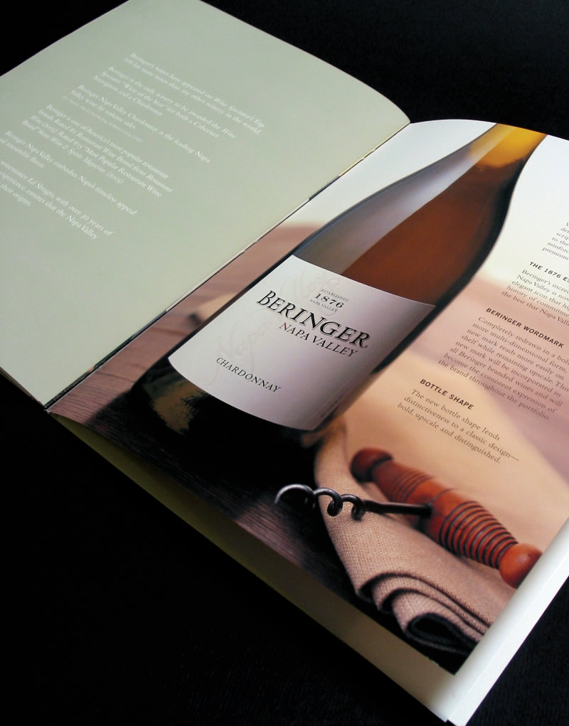 Beringer Launch Brochure Inside Spread Design