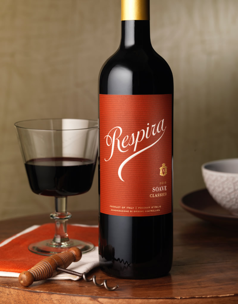 Respira Wine Packaging Design & Logo