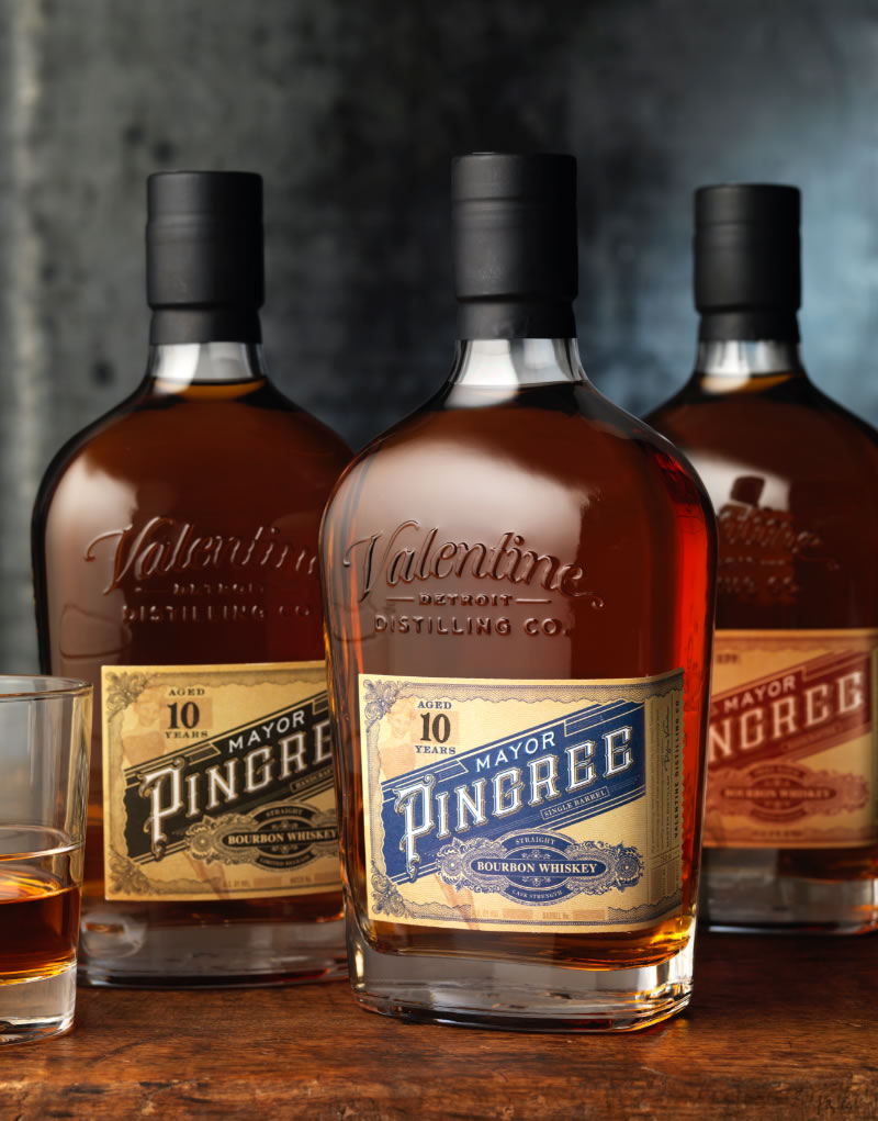 Mayor Pingree Whiskey Packaging Design & Logo