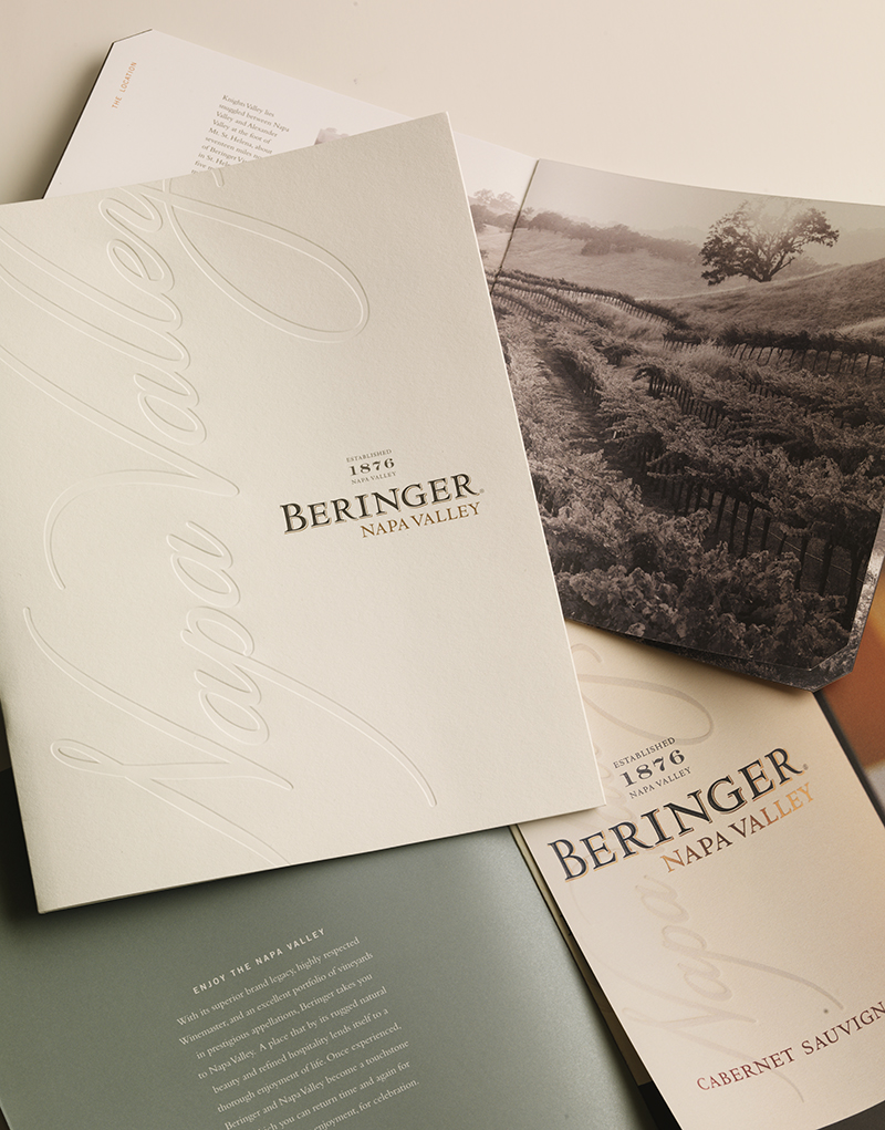 Beringer Brochure Cover & Inside Spread Design