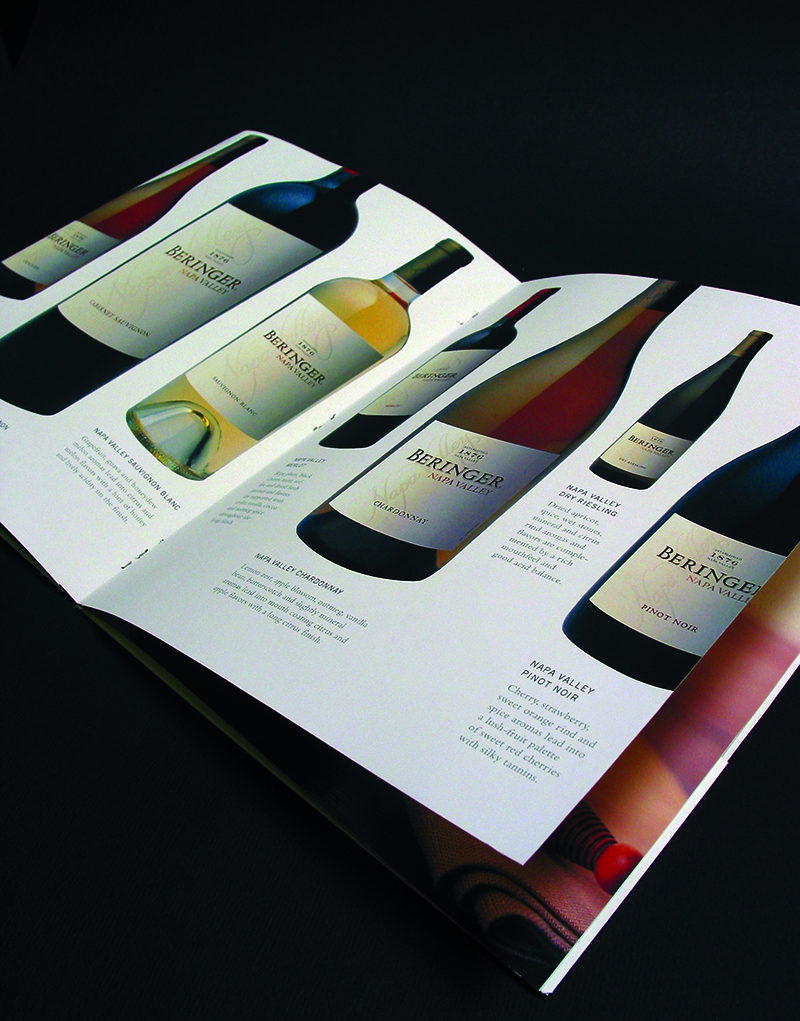 Beringer Brochure Inside Spread Design