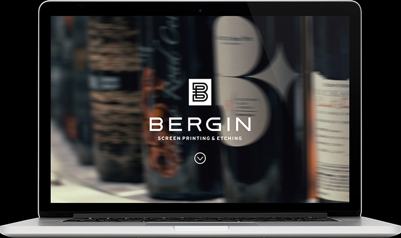 Bergin Screen Printing & Glass Landing Page Website Design