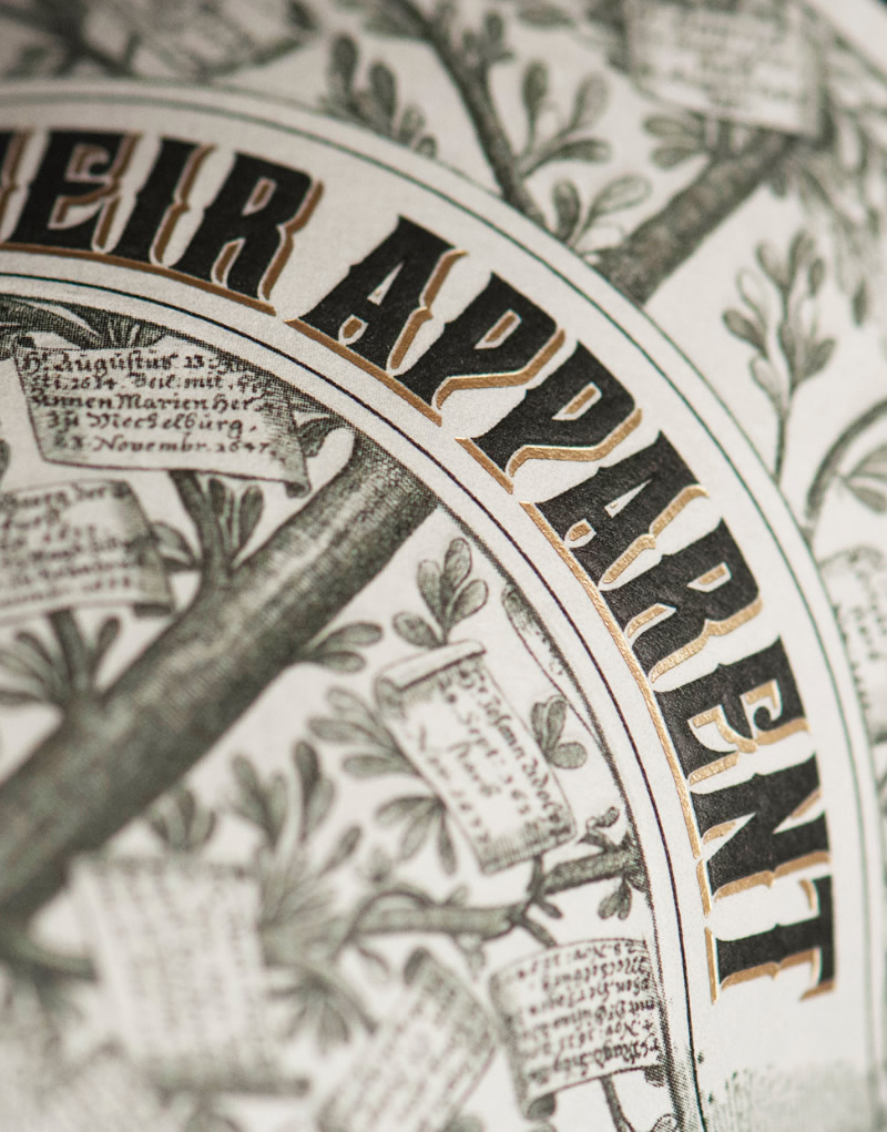 Heir Apparent Wine Packaging Design & Logo Label Detail