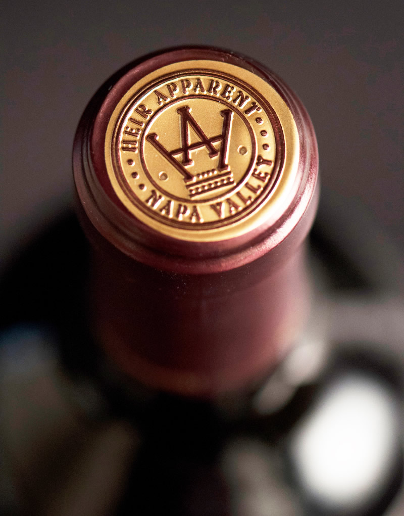 Heir Apparent Wine Packaging Design & Logo Capsule