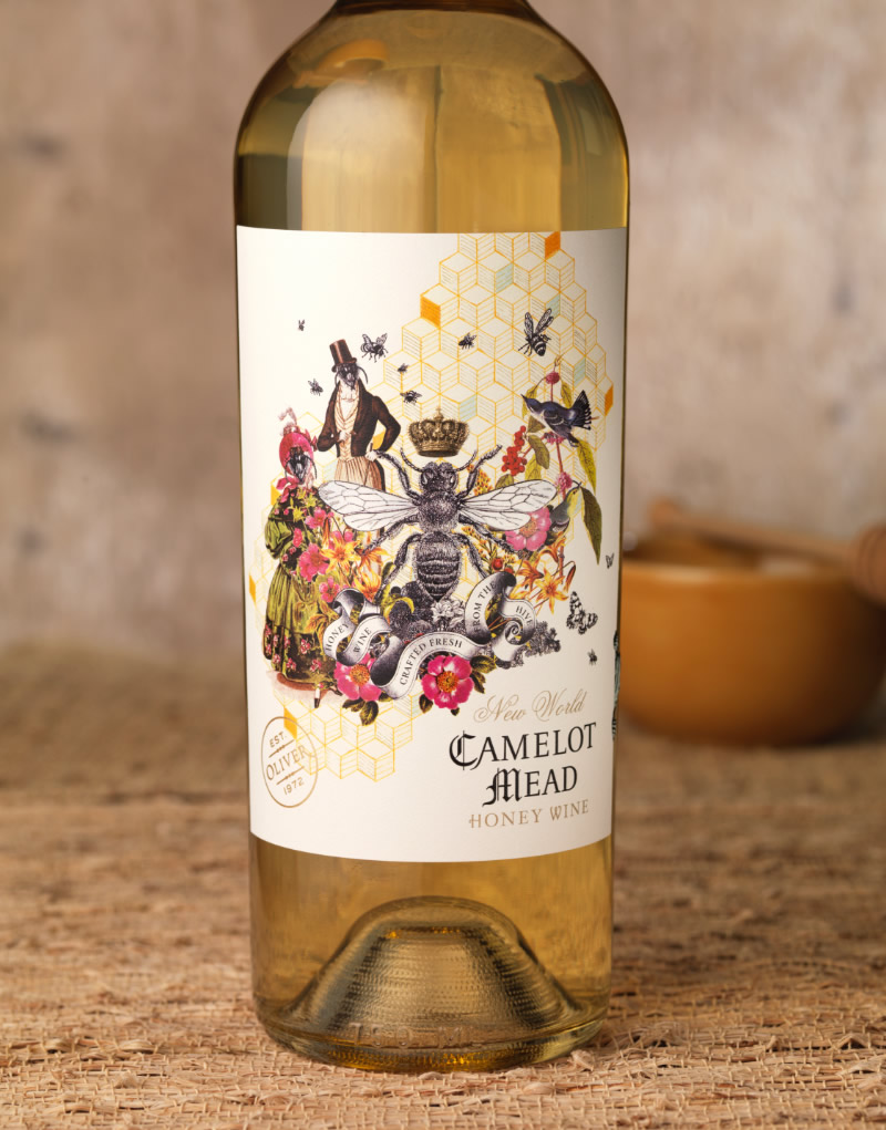 Camelot Mead Packaging Design & Logo