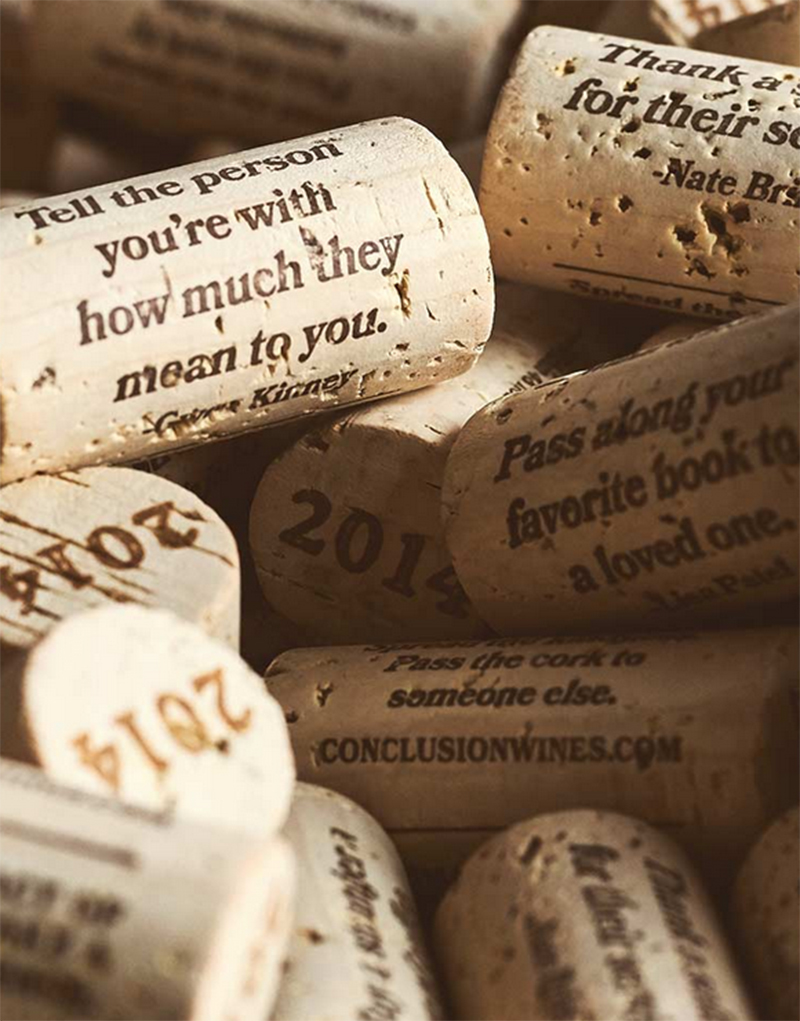 Conculsion Wine Cork Design