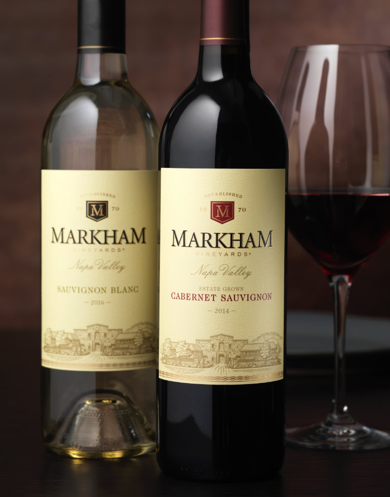 Markham Vineyards Wine Packaging Design & Logo
