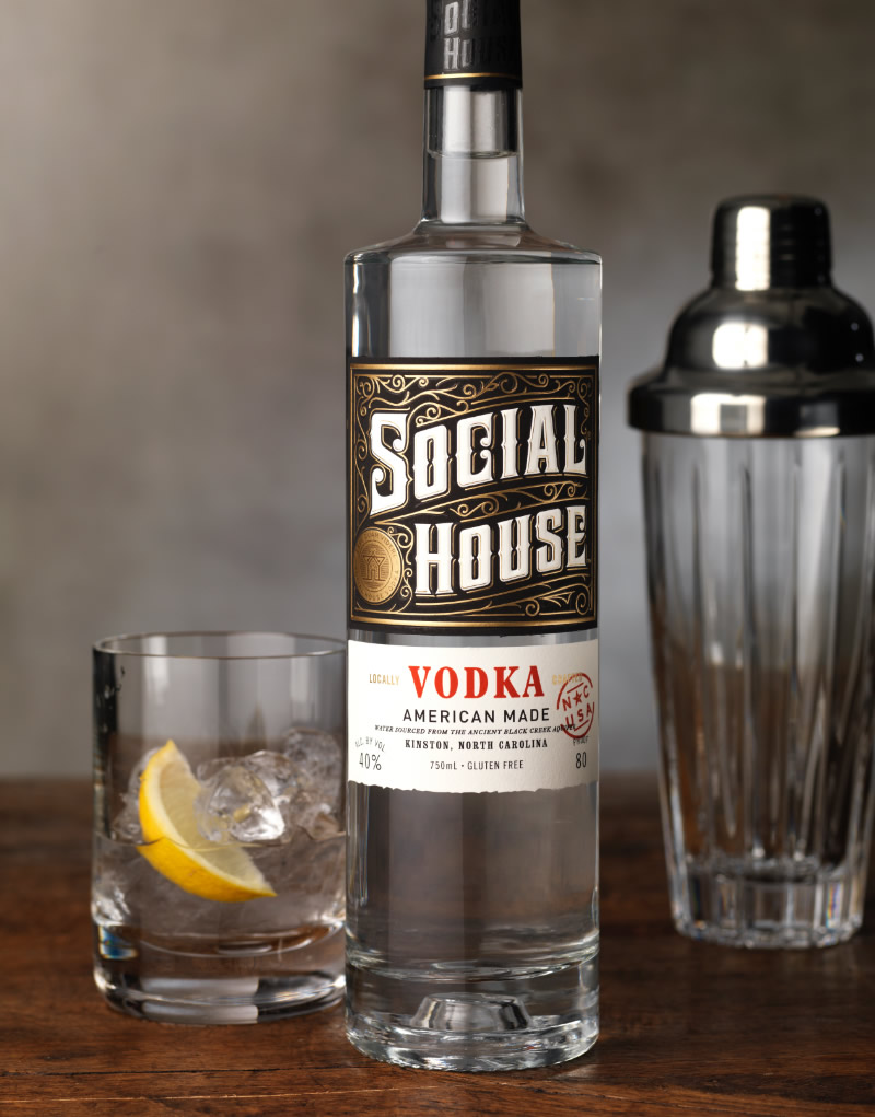 Social House Vodka Packaging Design & Logo