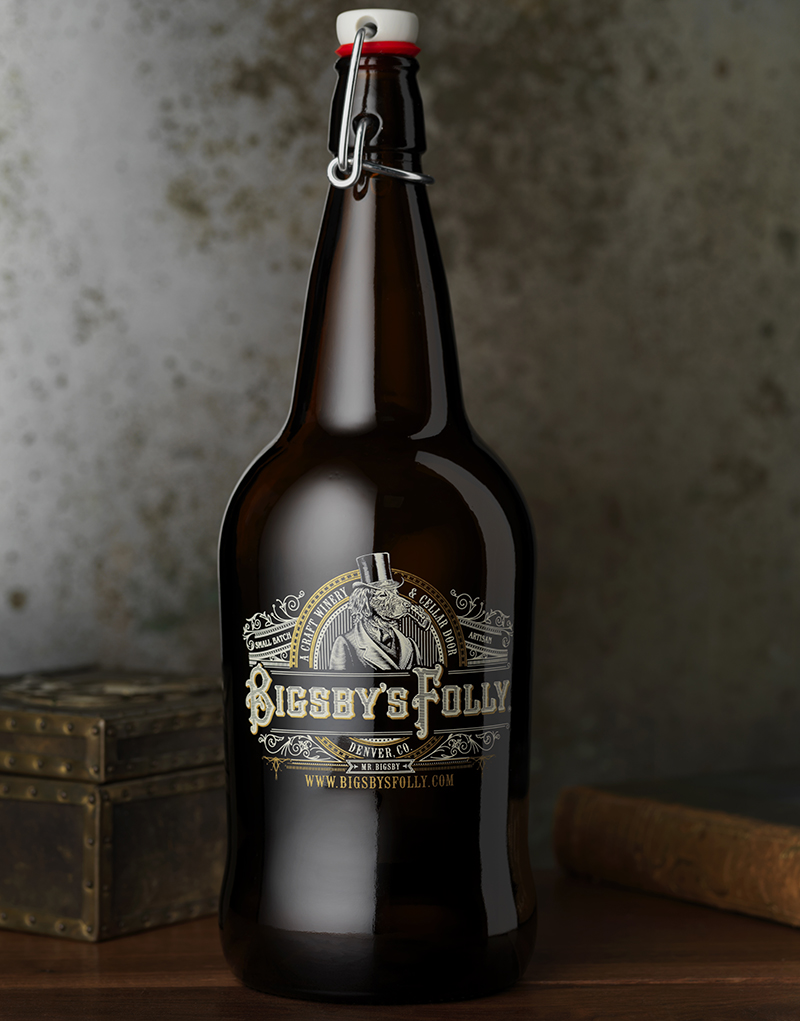 Bigsby's Folly Wine Packaging Design & Logo Growler