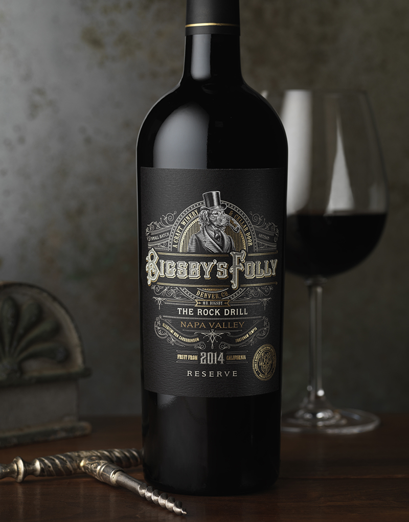Bigsby's Folly Wine Packaging Design & Logo Reserve