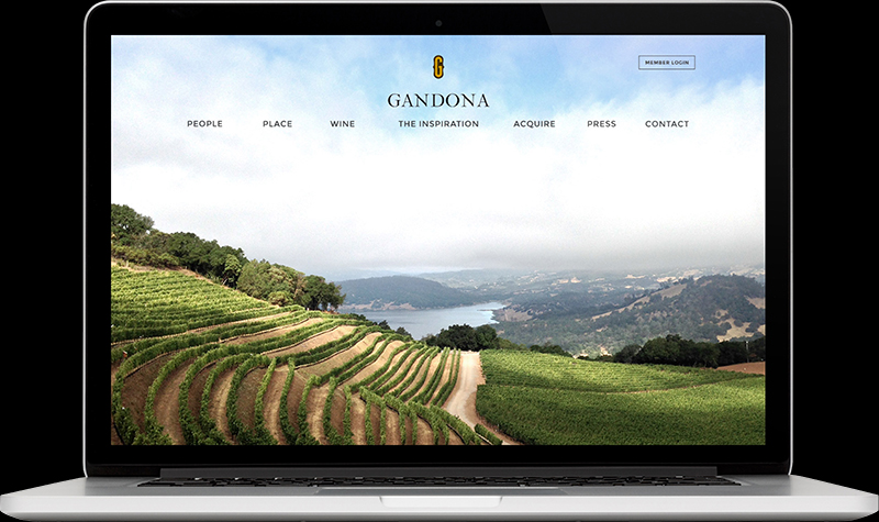 Gandona Estate Homepage Website Design