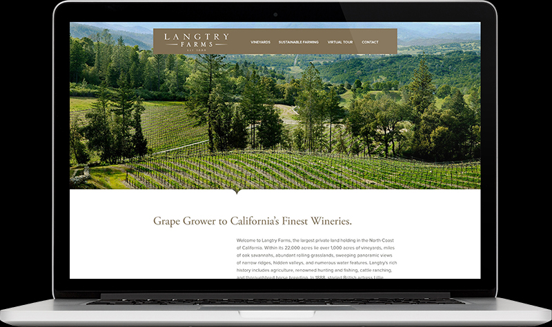 Langtry Farms Homepage Website Design