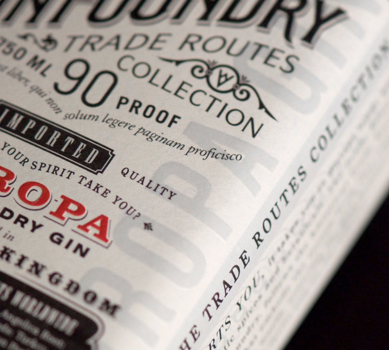 The Gin Foundry Packaging Design & Logo Label Detail