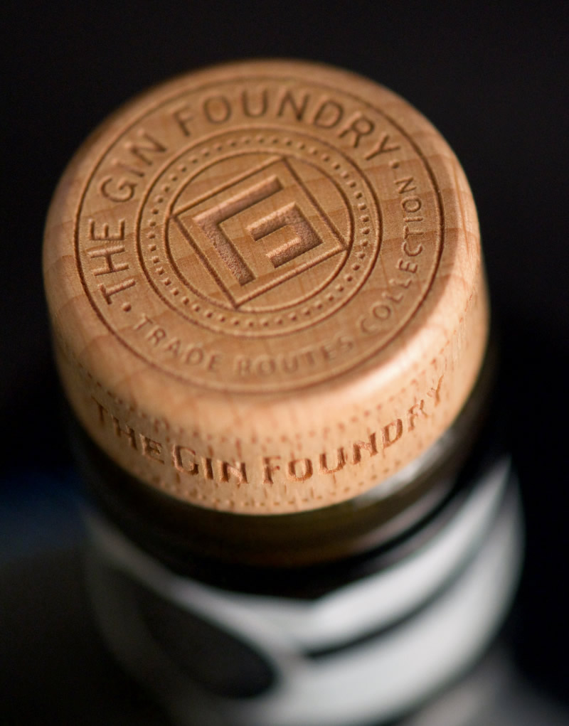 The Gin Foundry Packaging Design & Logo T-Top Detail