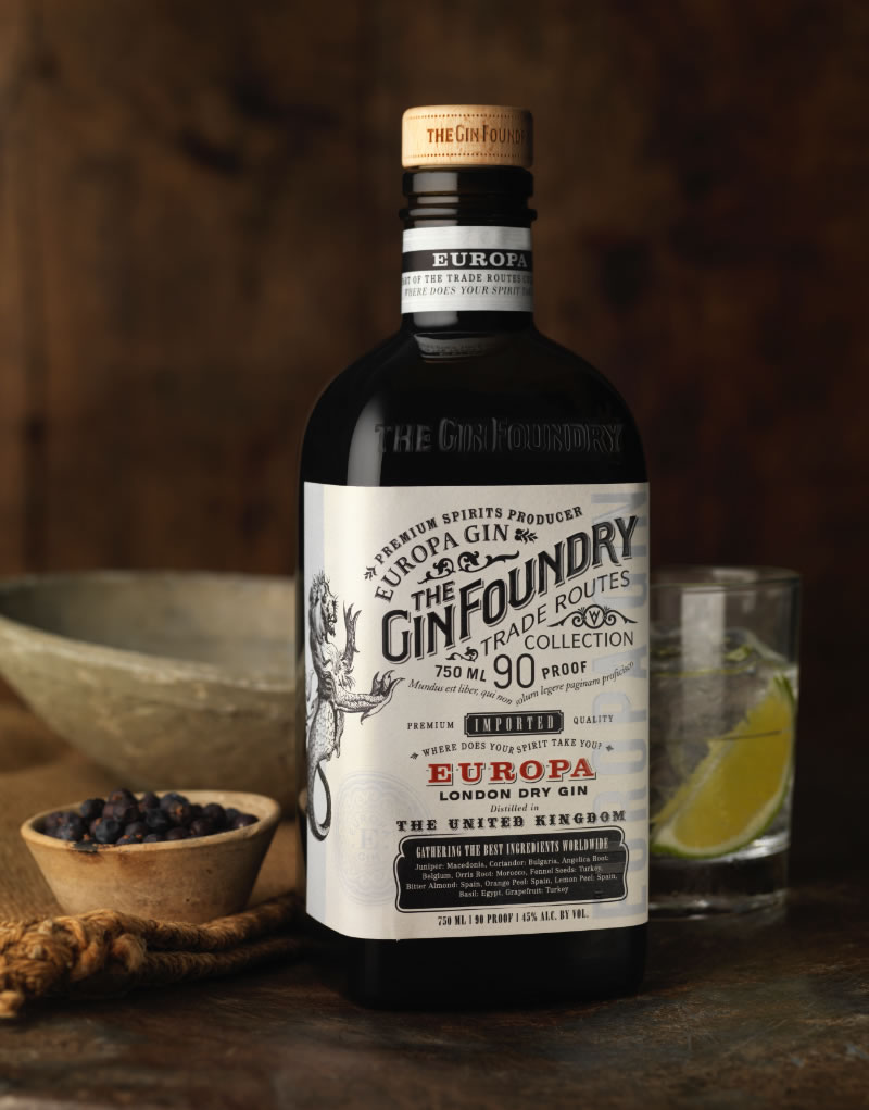 The Gin Foundry Packaging Design & Logo