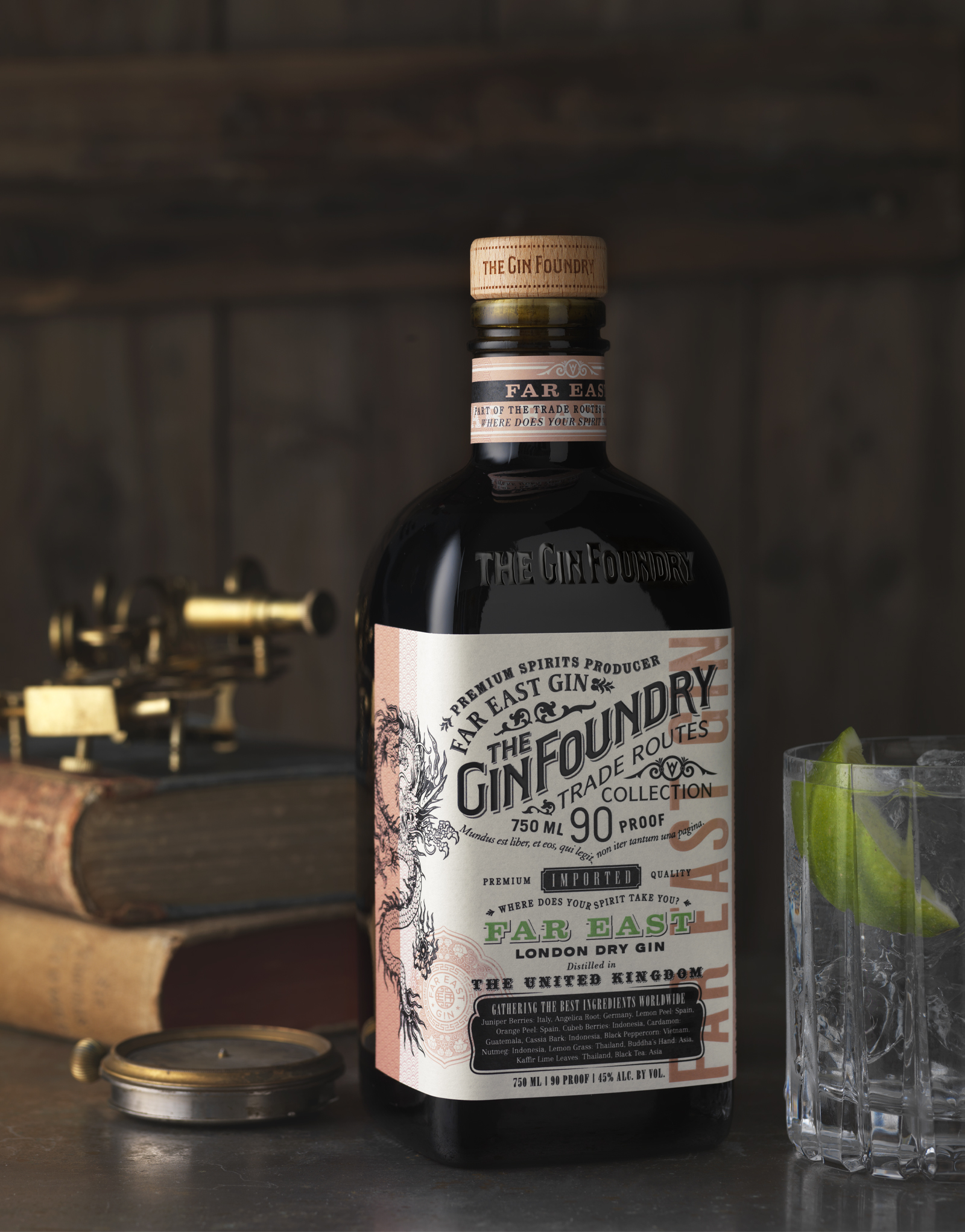 The Gin Foundry Far East Gin Packaging Design & Logo
