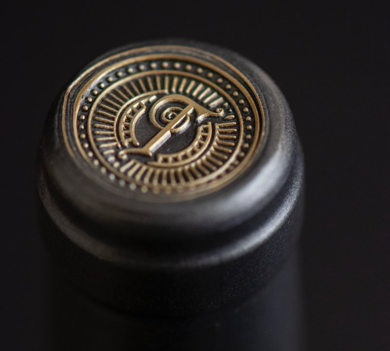 Tradition Wine Packaging Design & Logo Capsule Detail
