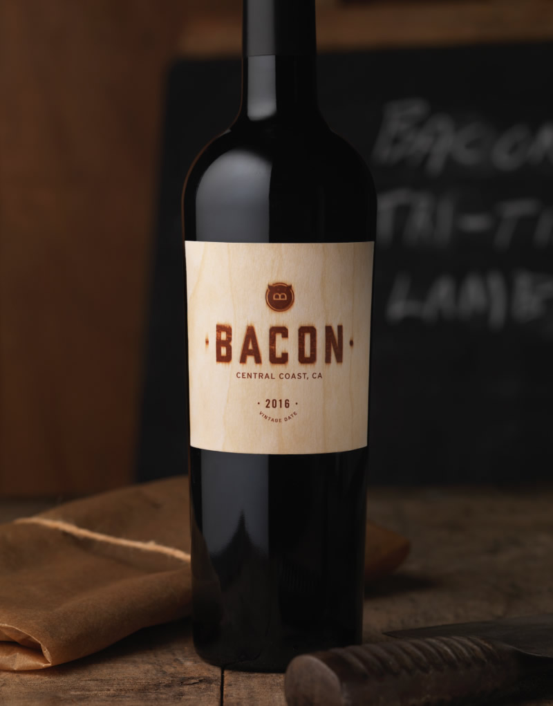 Bacon Wine Logo and Packaging design for Guarachi Partners
