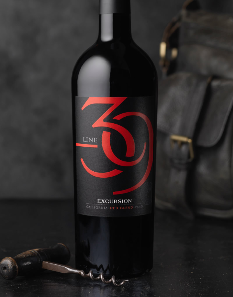 Line 39 Wine Packaging Design & Logo Excursion